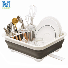 New Folding Kitchen Storage Rack Tableware Spoon Drain Drying Container Folded Bowl Cup Holder