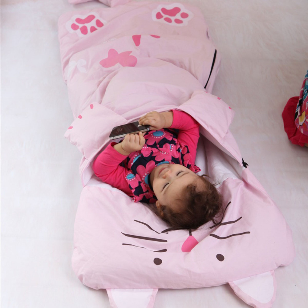 Baby Sleeping Bags Bedding Kids Sack Infant Toddler Winter Cartoon Animals Pink Sleep Bag Newborn Bed Wrap Cute Child Warm Sacks