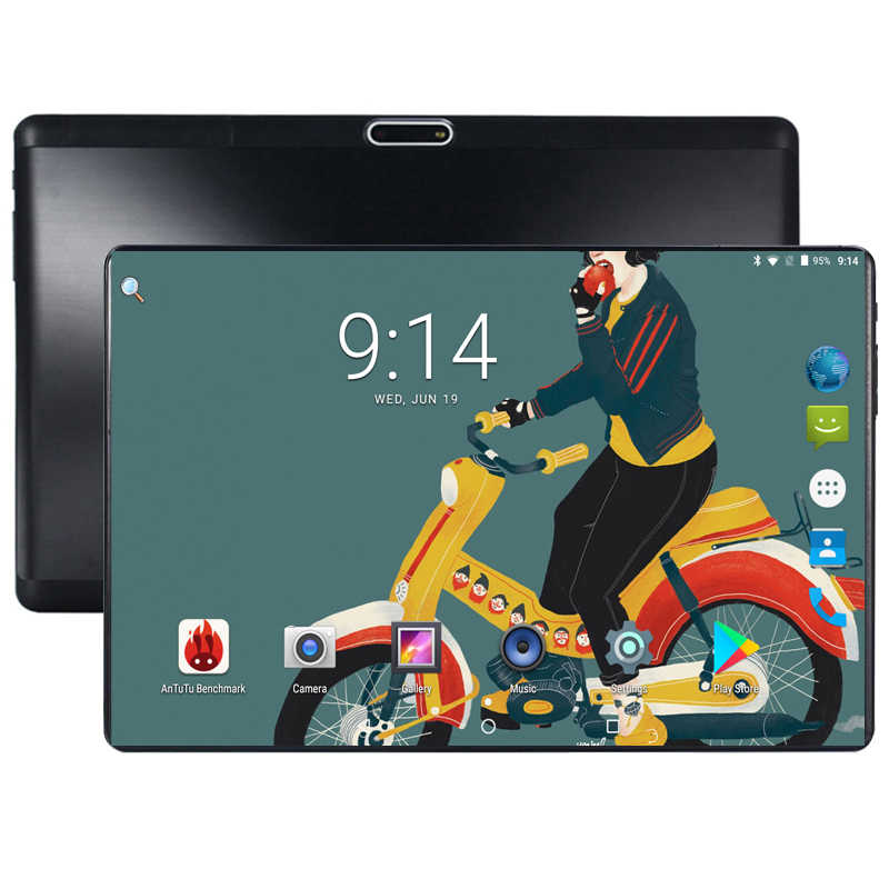 New Tempered 2.5D Glass 10 inch tablet Android 8.0 Octa Core 6GB RAM 64GB ROM 1280x800 HD IPS Screen GPS Media Pad
