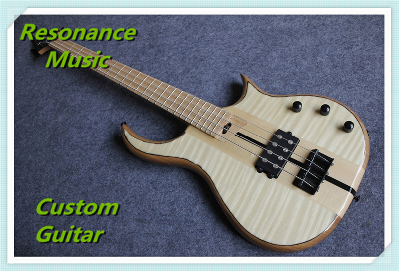 Limited Edition Natural Flame Electric Guitar Warrior Bass Guitarra 4 Strings Chinese Ash Body & Kit Available цена