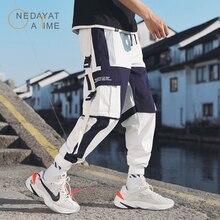 Mens Multi Pockets Cargo Harem Pants Hip Hop Casual Male Track Joggers Trousers Fashion Harajuku Hipster Streetwear