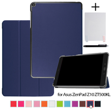 Case for ASUS ZenPad Z10 ZT500KL 9.7'' Tablet Magnetic Stand PU Leather Cases Cover + Screen Protector Film + Stylus