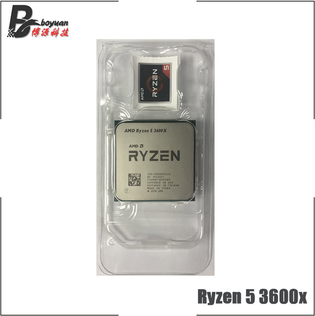 AMD Ryzen 5 3600X R5 3600X 3.8 GHz Six Core Twelve Thread CPU Processor 7NM 95W L3=32M  100 000000022 Socket AM4 new but no fan