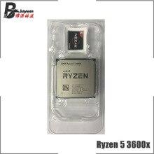 AMD Ryzen 5 3600X R5 3600X3.8 GHz ستة النواة اثني موضوع معالج وحدة المعالجة المركزية 7NM 95 W L3 = 32 M 100 000000022 المقبس AM4 جديد ولكن لا مروحة
