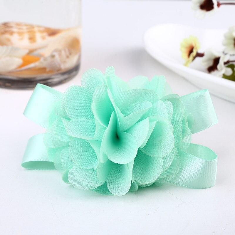 Zilue 50pieces / lot Prom corsage Wrist Flower 5 colores Accesorios - Para fiestas y celebraciones - foto 6