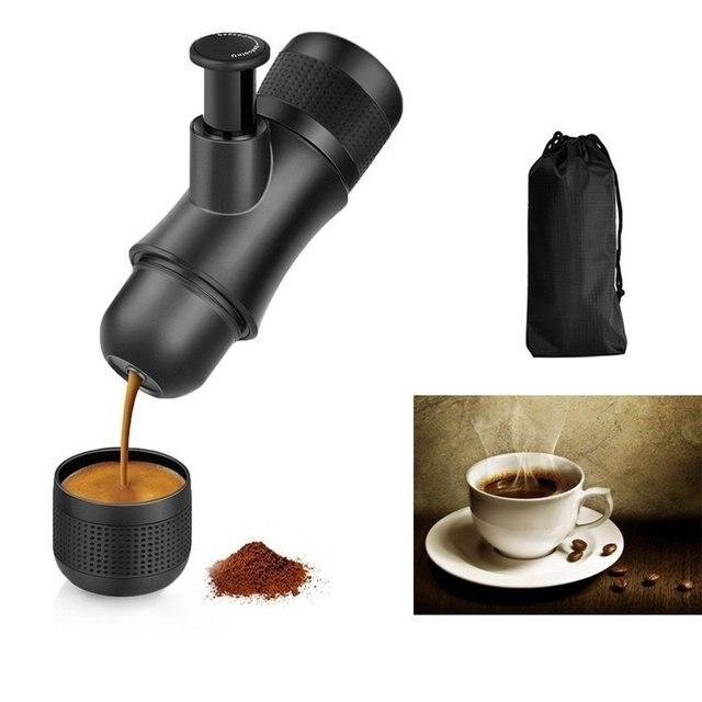 Mini Manual Espresso Machine Portable Hand Held Maker Pressure Coffee
