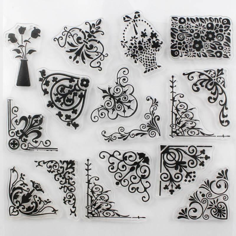 CCINEE Promotions One Sheet Transparent Stamp Flower Vine DIY ...