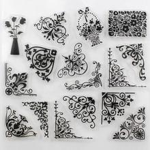 CCINEE Promotions One Sheet Transparent Stamp Flower Vine DIY Scrapbooking/Card Making/Christmas Decoration Supplies