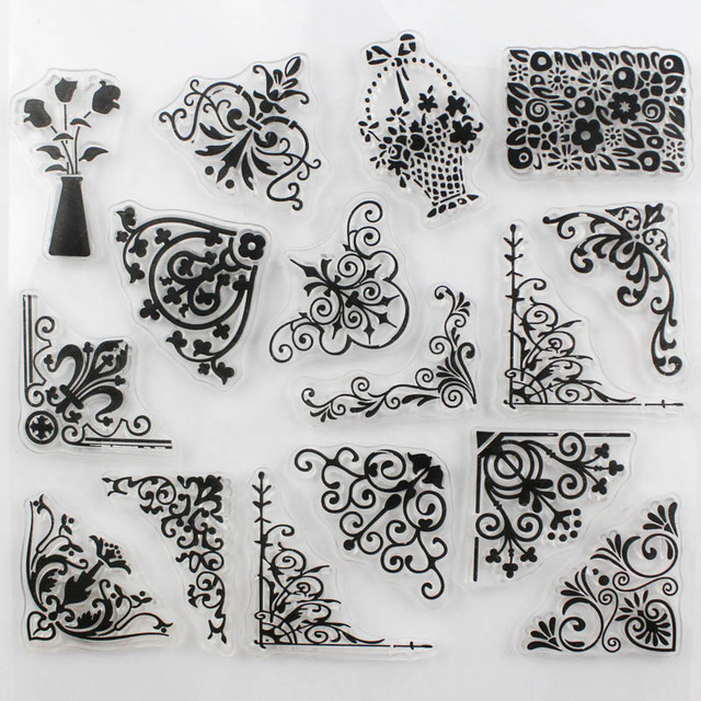 CCINEE Promotions One Sheet Transparent Stamp Flower Vine DIY Scrapbooking Card Making Christmas Decoration