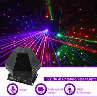 Mini 360 Degree Rotating RGB Beam Gobo Laser Effect Lights DMX DJ Party Disco Home Club Show Professional Stage Lighting Q 360R