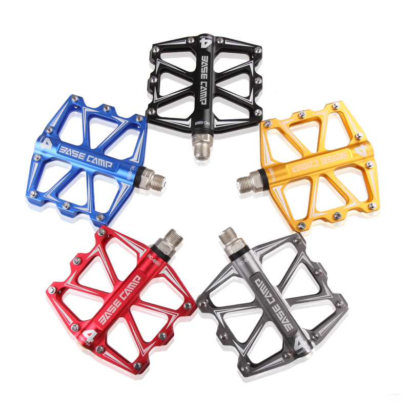 2017 HOT NEW MTB Pedal Mountain Bicycle Road Bike Pedal Slip-resistant Ultra-light Aluminum Alloy 4 Ball Bearing Cycling Pedals hot healthy household bicycle super mute younger dynamic magnetic bike fitness equipment pedal bicycle exercise to lose weight