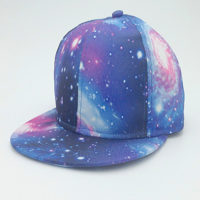 Fast Shiping Galaxy Blue Space Gorras Snapback Hip Hop Women Men Hats Fashion Baseball Cap