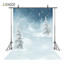 Laeacco Fantasy Winter Snow Pine Trees Scenic Baby Photography Backgrounds Customized Backdrops For Photo Studio
