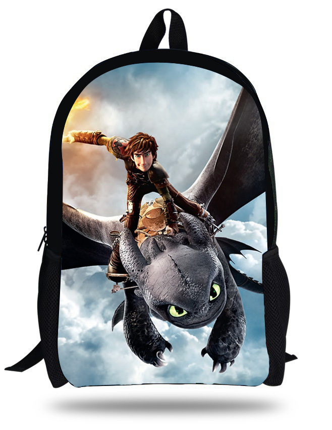 c06101ba6bd0 16 inch Mochila Escolar Menino Boys Bag Kids School Bags How to Train Your  Dragon Backpack Tootheles Hiccup Print Age 7 13-in School Bags from Luggage  ...