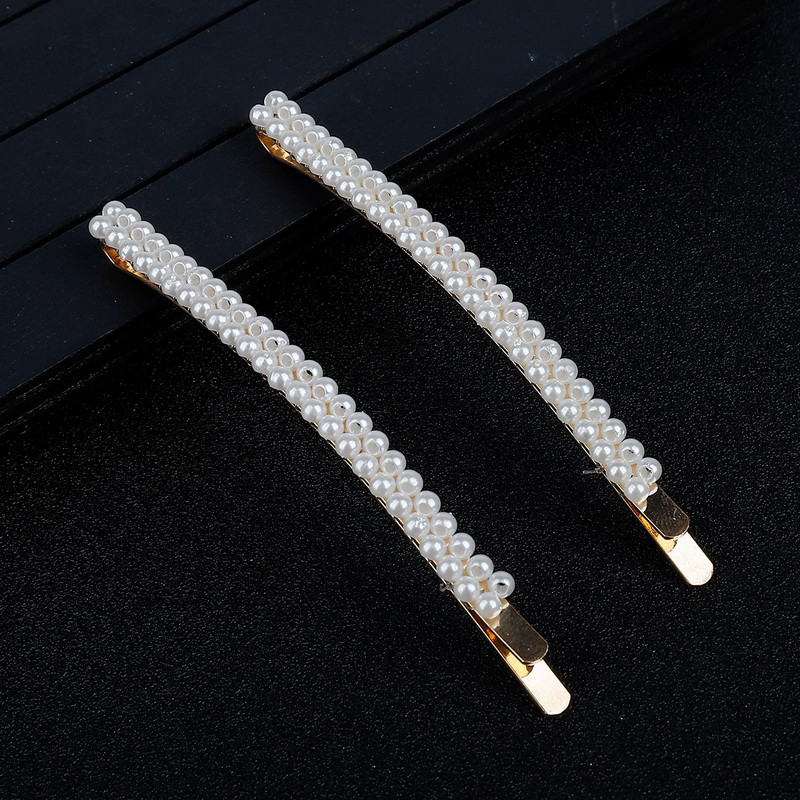 Gold New 6pcs/Set Korean INS Vintage Pearl Hairpins Fashion Hair Accessories Imitiation Pearl Hair Clips For Girls Hair Styling