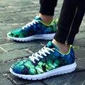 Clássico 2017 Homens Amantes Sapatos Casuais Formadores De Impressão 3d Colorida Loafers Flats Homens Zapatos Hombre Zapatillas Deportivas Mujer