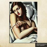 Tamara de Lempicka Retrato Dibujo Aerosol arte de la Lona Sin Marco Pintura Al Óleo Clásica de hierro piedra preciosa imagen miniature10093033