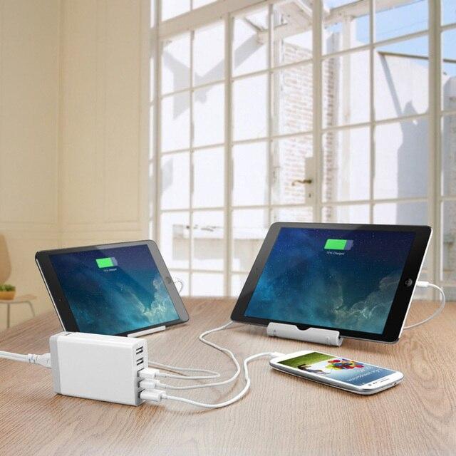 High Quality 5 Ports 5V8A Portable USB Hub US / EU /UK / AU Plug Wall Charger with 1.6 M for For iPhone 5 6 iPad Samsung S6 edge