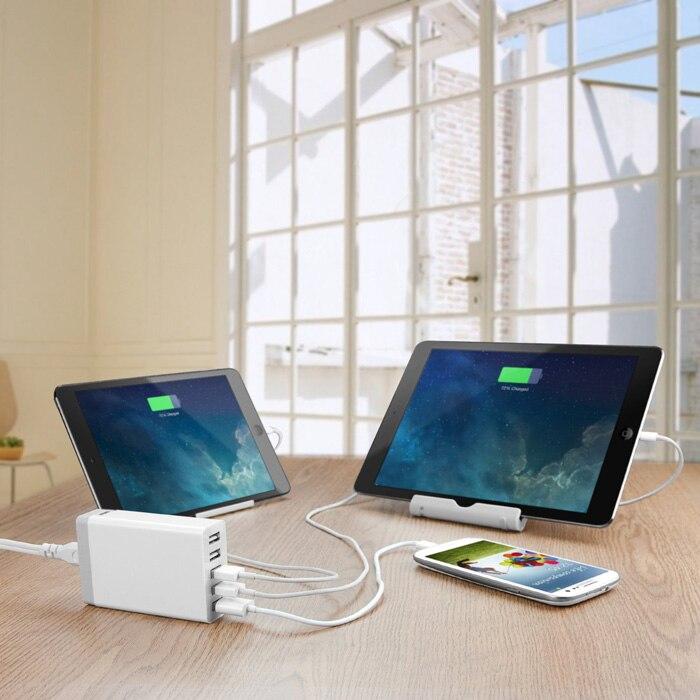 High Quality 5 Ports 5V8A Portable USB Hub US / EU /UK / AU s