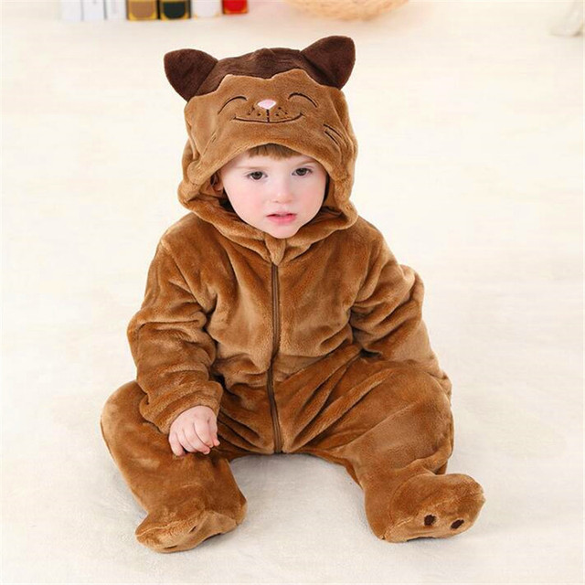Baby Footies Autumn cartoon modelling climb clothes in infants Children in the clothing of baby lovely performance FWA3006