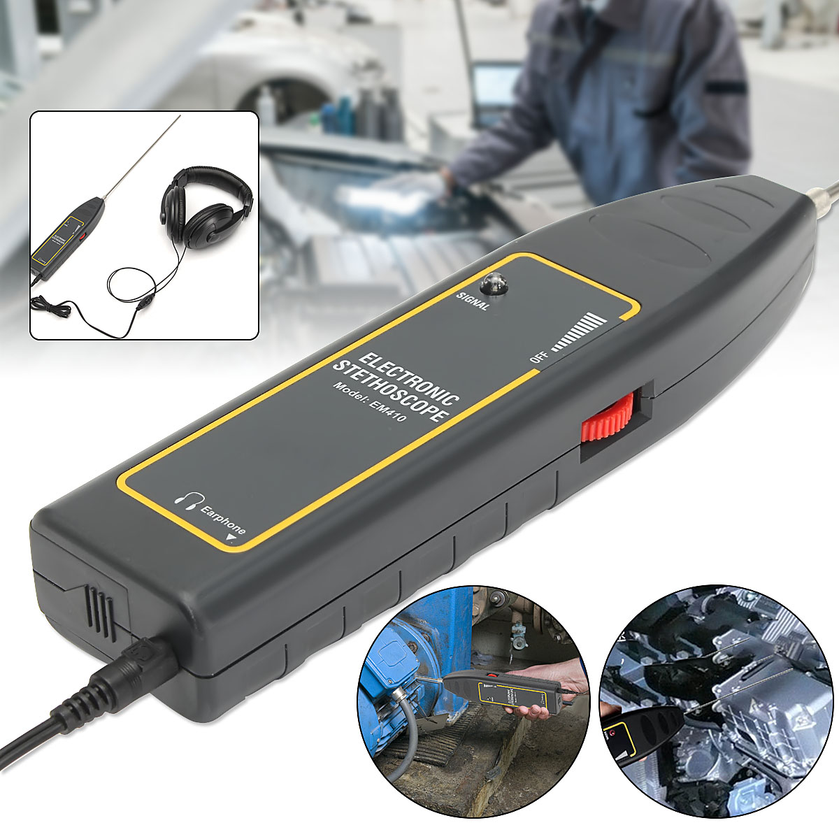 100 db Electronic Stethoscope Gas Leak detector Transmitter Detects Air Water Dust Leak Indicator for car,tank,ect.100 db Electronic Stethoscope Gas Leak detector Transmitter Detects Air Water Dust Leak Indicator for car,tank,ect.