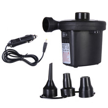 New Electric Air Pump 12V Car Inflatable Inflator Boat Blower Nozzle Head For Outdoor Kayak Airbed