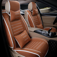 (front+rear)High quality linen Universal car seat cover For BM/W E30/34/36/39/46/60/90 f10 f30 x3 x5 x6 car ACCESSORIES