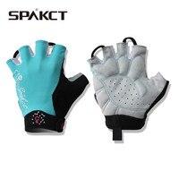 PAKCT Women S Cycling Short Finger Half Finger Gloves Simple Love 3 Colors Pink Blue Black