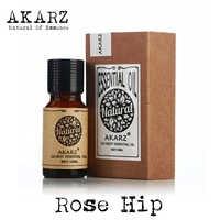 AKARZ célèbre marque aromathérapie rose hanche huile supprimer cicatrice rides vergetures réduire hydratant rose hanche huile essentielle