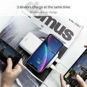 Image 3 - Baseus 10000mah Power Bank Drahtlose Ladegerät Schnelle Lade für iPhone Samsung Huawei Xiaomi Dual USB Lade Externe Batterie Pack