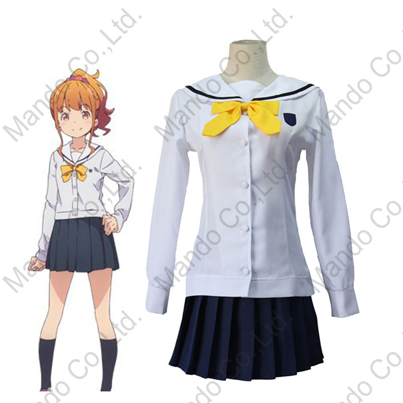 Japanese New Anime Eromanga-sensei Cosplay Costumes Jinno Megumi School Uniform Halloween Cosplay Costume