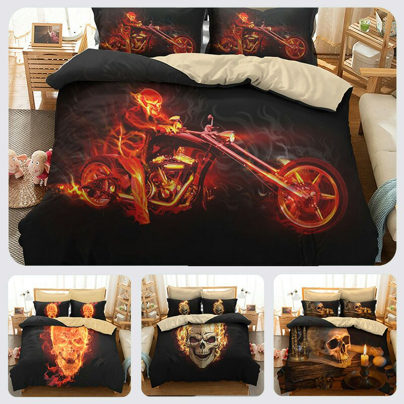 Luxury Bed Cover Bedding Set King Queen Size Comforter