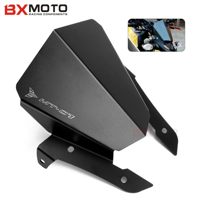 New Aluminum Motorcycle Motorbike Windshield Windscreen Black For Yamaha MT07 MT-07 MT 07 2013 2014 2015 adjustable pedals cnc motorcycle rear foot rest pegs for yamaha yzf r25 yzf r3 2014 2015 2016 yzf r3 r25 gold