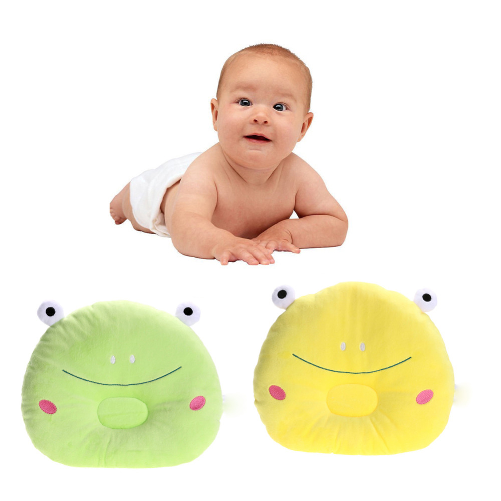 Baby Pillow Infant Prevent Flat Head Pillows Frog Figure Soft Children Newborn Bed Sleeping Positioner Prevent Flat Head