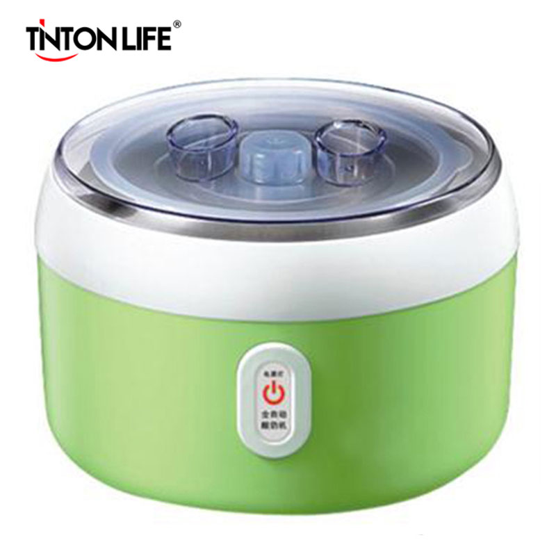 TINTON LIFE 15W Yogurt Maker Stainless Steel Liner Container Acidophilus Milk Tools Household Yogurt Machine AC220V hot selling electric yogurt machine stainless steel liner mini automatic yogurt maker 1l capacity 220v
