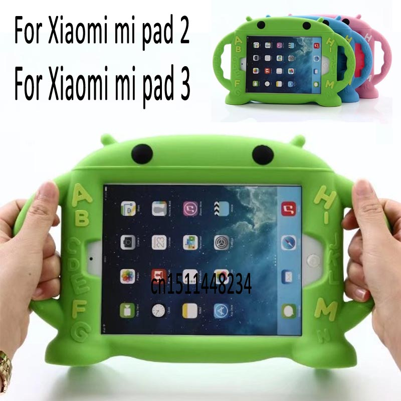 2017New listing ! Child baby Cartoon silicone Tablet case cover for Xiaomi mi pad 2 3 mipad 3 cover 7.9 case stand cover+pen cartoon painted flower owl for kindle paperwhite 1 2 3 case flip bracket stand pu cover for amazon kindle paperwhite 1 2 3 case