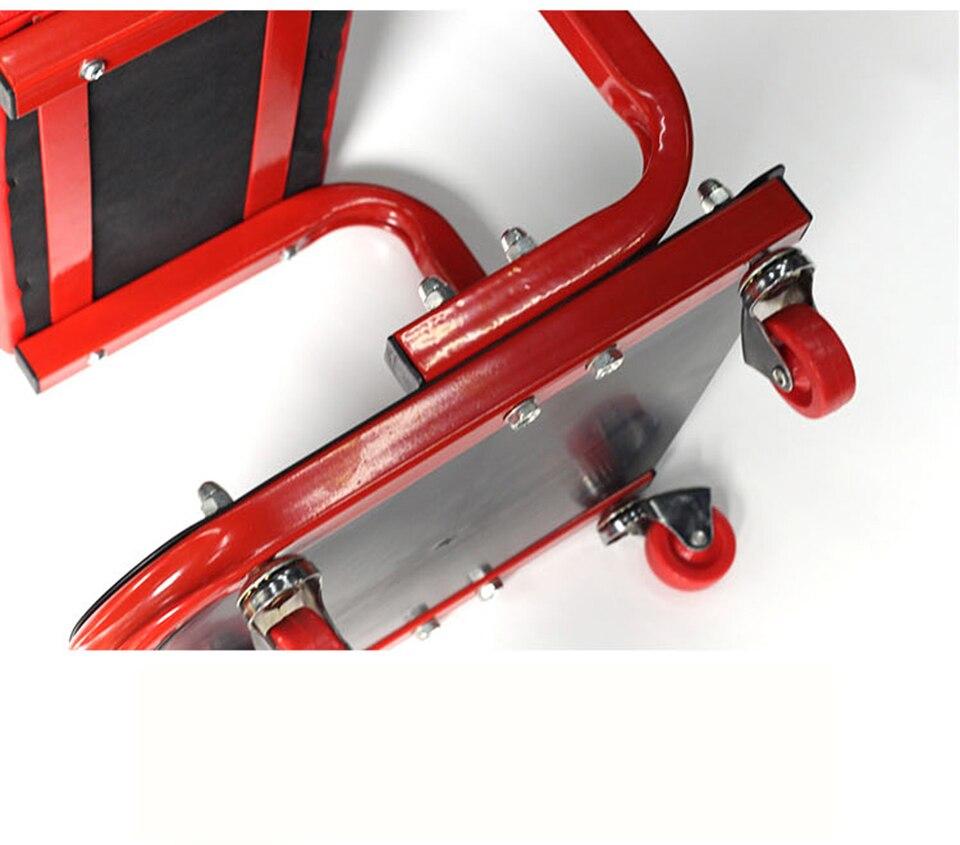 Image 5 - Автомобильное кресло для гаража, красное кресло для ремонта автомобиля с колесами, магазин стульев, MO 601-in Наклейки на автомобиль from Автомобили и мотоциклы