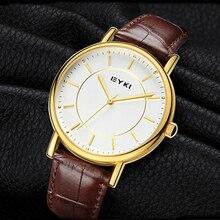 2017 Nueva Fashin EYKI Relojes Casuales Hombres Correa de Cuero Relojes de Cuarzo Relojes Deportivos Relojes Femeninos