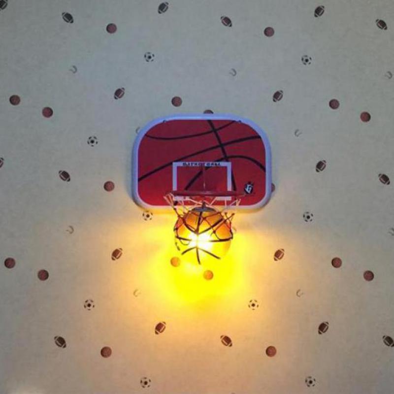 wall mounted basket ball lamp glass wall lamp sconce for Teens bedroom modern wall lights Bedside Lampe E27  kids Night lightwall mounted basket ball lamp glass wall lamp sconce for Teens bedroom modern wall lights Bedside Lampe E27  kids Night light