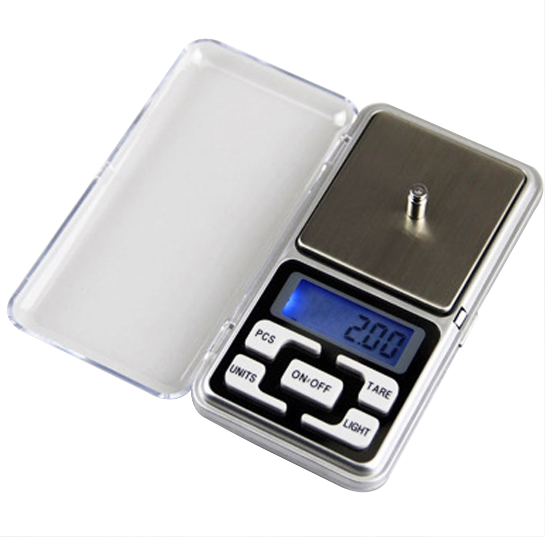 200g*<font><b>0.01g</b></font> Weighing <font><b>Scale</b></font> <font><b>Weight</b></font> <font><b>Scales</b></font> Balance g/oz/ct/tl Electronic LCD Display <font><b>scale</b></font> Mini Pocket <font><b>Digital</b></font> <font><b>Scale</b></font> the balance image