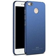 MSVII Brand For Xiaomi redmi 4x Case Matte Hard Coque Back Cover Slim Fashion Phone Housing For Xiaomi redmi 4x cases