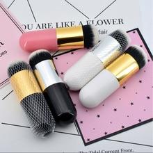 Pro Big Foundation Make up Brush Single Flat Round Cream Soft Makeup Brushes Cosmetic powder Tool