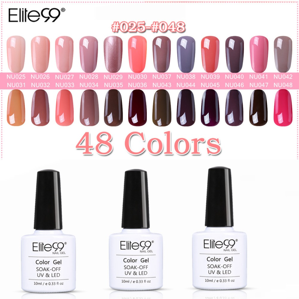 Elite99 10ml Nakenfärgsserie Nail Gel Professionell Färggel Polsk Venalisa Led & UV Suga Av Färgfärg Gel