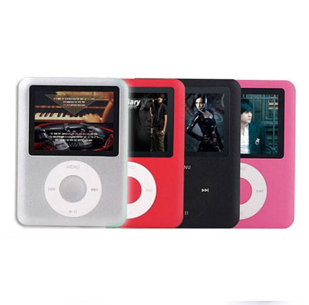"MP4 Player with  2.1"" LCD screen with E-Book and FM function 3th MP4 Player with earphone cable cord and crystal box."