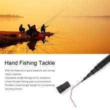 Professional Adjustable Glass Fiber Steel Elasticity Telescope Fishing Rod Spinning Pole Portable Strong Spin Fish Equipment