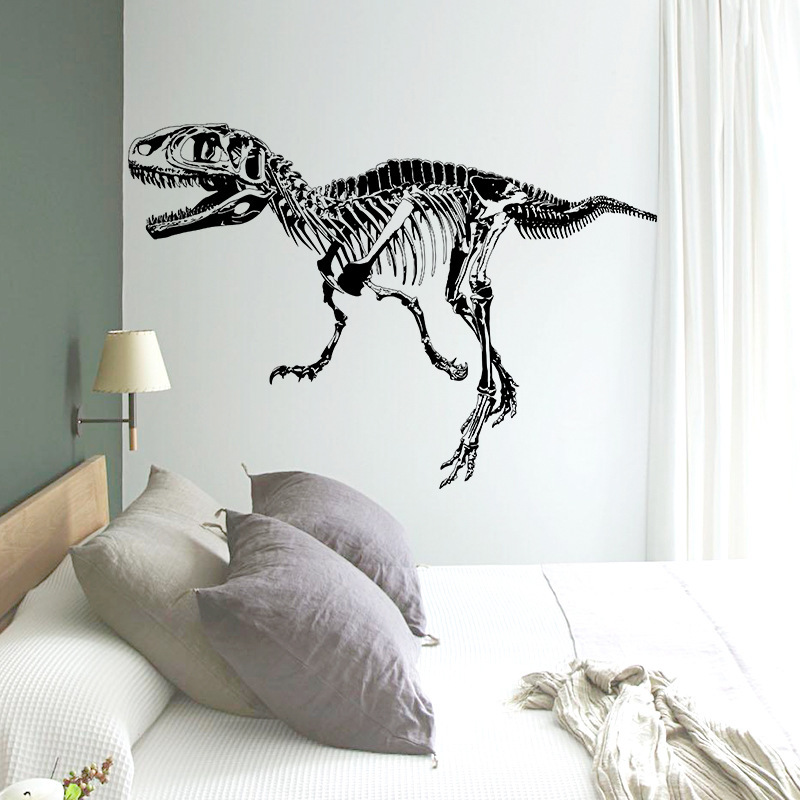 Online Shop Squelette Wall Stickers Black Wallpaper Skeleton Decoration  Ancient Style Dinosaur Stickers For Boys | Aliexpress Mobile Part 64