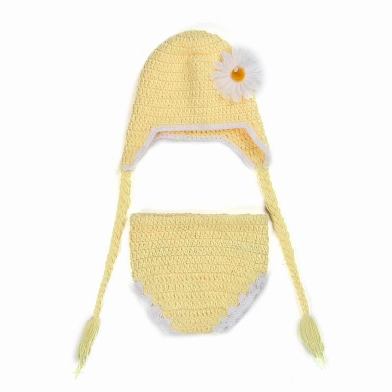 Disfraz de pollo del casquillo del oído recién nacido del bebé de la ...