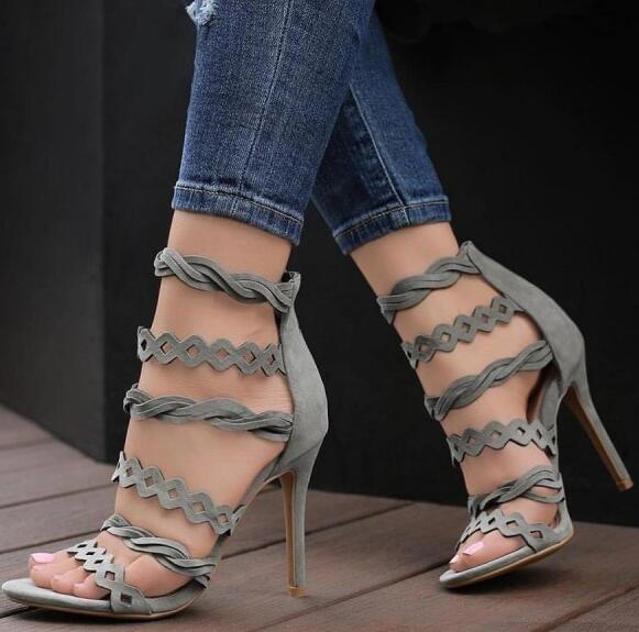 Moraima Snc Hollow out Strappy Sandals Stiletto Heel Sandals Sexy Shoes Summer Open Toe Gladiator Shoes for Woman Party Heels Moraima Snc Hollow out Strappy Sandals Stiletto Heel Sandals Sexy Shoes Summer Open Toe Gladiator Shoes for Woman Party Heels