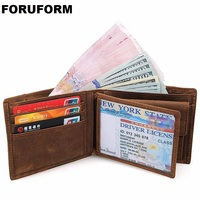 COWATHER Crazy Horse Leather Men Wallets Vintage Genuine Leather Wallet For Men Cowboy Top Leather Thin