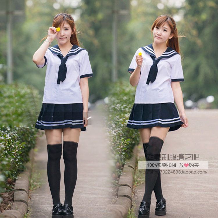 Students Club Bar Sailor Suit Uniforms Class Service Performance Photography Cos -7050